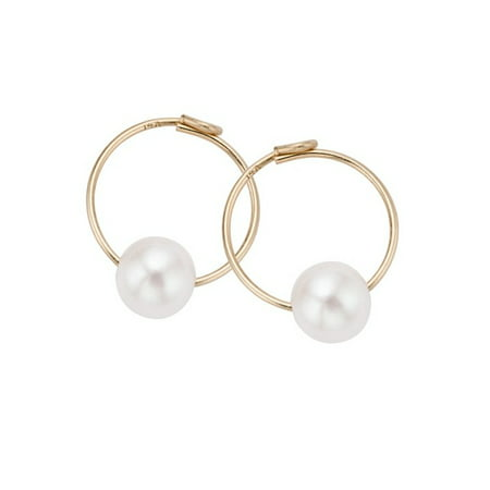 a0a66c61c59af Pearlyta 14k Gold Kids Freshwater Pearl Endless Hoop Earrings (4 mm) - Fine  Jewelry Gift for Baby/Kids/Children/Baby Showe | Walmart Canada