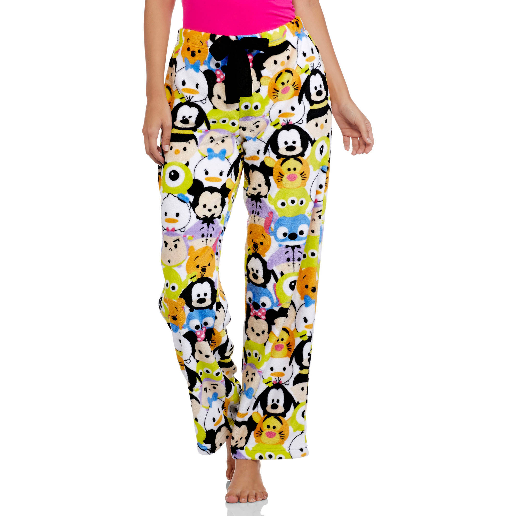 Tsum Tsum Women's License Pajama Super Minky Plush Fleece Sleep Pant