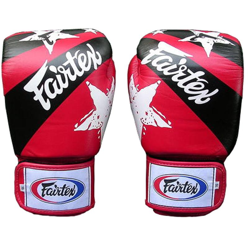 Fairtex Nation Print Universal Boxing Gloves - Red