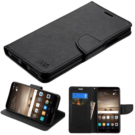 Insten Liner MyJacket Leather Wallet Credit Card Stand Flip Case Cover For Huawei Mate 9 - Black](huawei mate 9 deals)