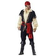 incharacter costumes men's pirate costume, tan, medium