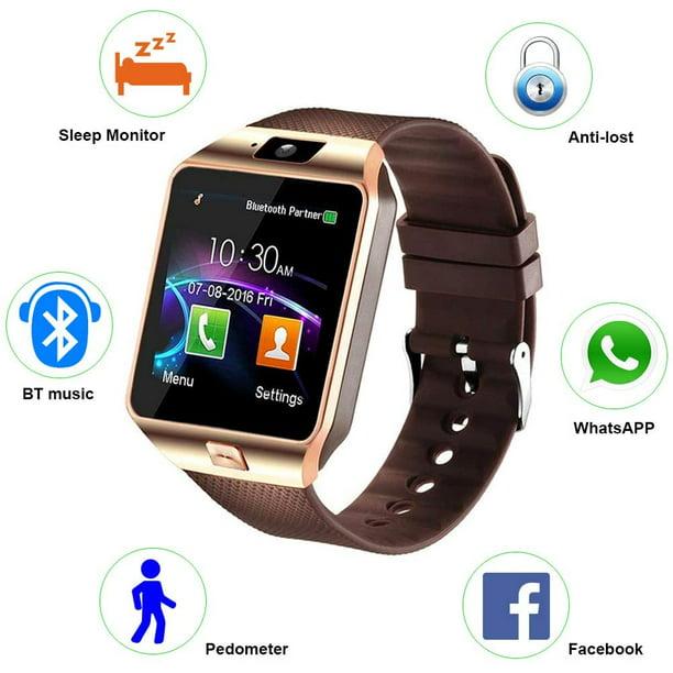 Wintekd DZ09 Bluetooth Camera Smart Watch Fitness Sports Run GSM GPRS SIM 4 Color -Gold