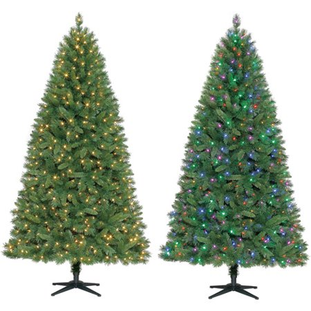 Departments - Holiday Time Pre-Lit 7.5' LED Kennedy Fir Color Change Artificial
