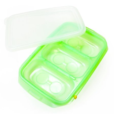 [JM Green] RRePlus Baby Food Freezer Tray [3 cell] with Date Slider. Flexible, Twistable. BPA Free. Wean Babies into Eating Solid Food. Double Sealing Lid Provided. [Light