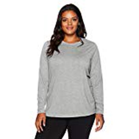 18f32c02b Tagless. Lightweight knit top is perfect for cool weather. Women's Champion  QW2913 C Vapor Plus Size Long Sleeve X-Temp Tee