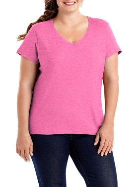 Hanes Women's X-temp Short Sleeve V-neck T-Shirt