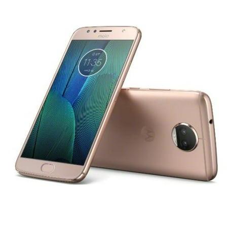 Refurbished Motorola PA6R0000US Moto G5S Plus 4G LTE with 64GB Memory Cell Phone (Unlocked) - Blush Gold ()