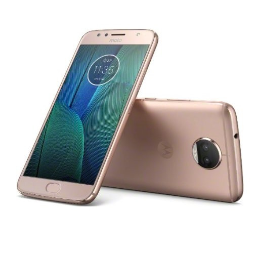 Refurbished Motorola PA6R0000US Moto G5S Plus 4G LTE with 64GB Memory Cell Phone (Unlocked) - Blush Gold