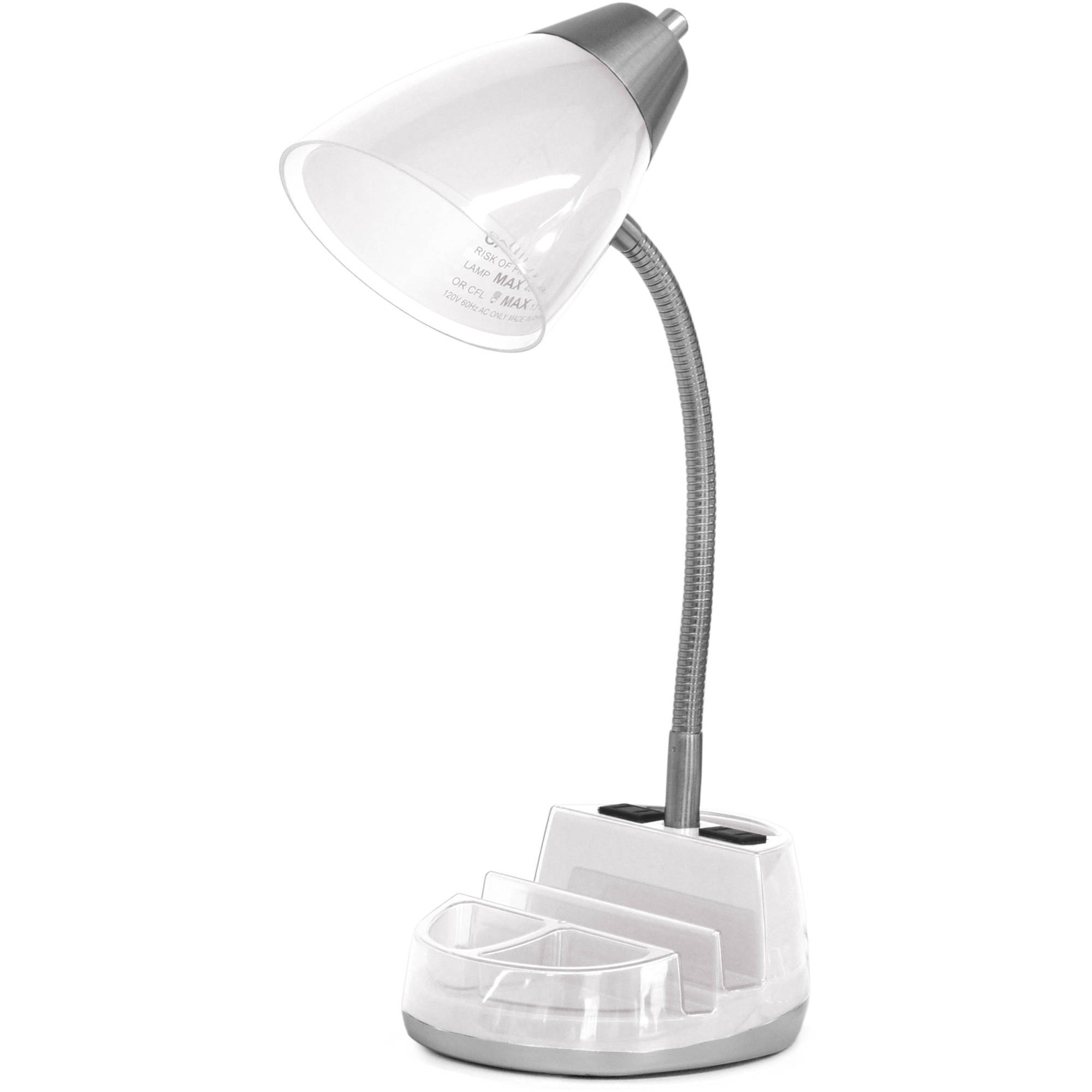 Mainstays Tablet Organizer Desk Lamp With Cfl Bulb Walmart Com