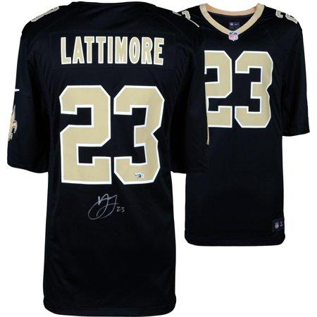 - Marshon Lattimore New Orleans Saints Autographed Black Game Jersey - Fanatics Authentic Certified