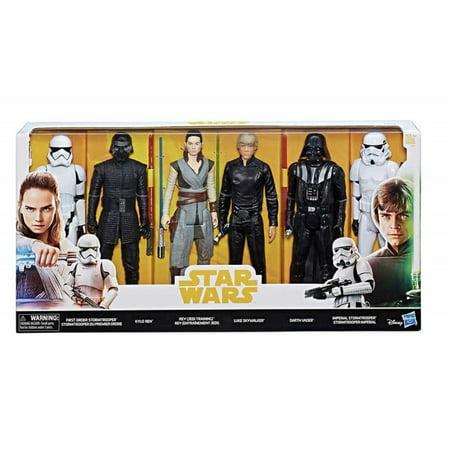 "Disney Hasbro Star Wars 12"" Epic Rivals Action Figures- 6 Pack"