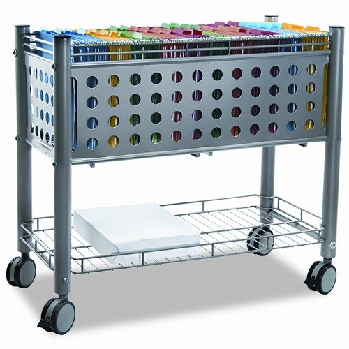 Vertiflex Smartworx File Cart with Open Top, 28-1/4 x 13-3/4 x 28-1/4, Gray