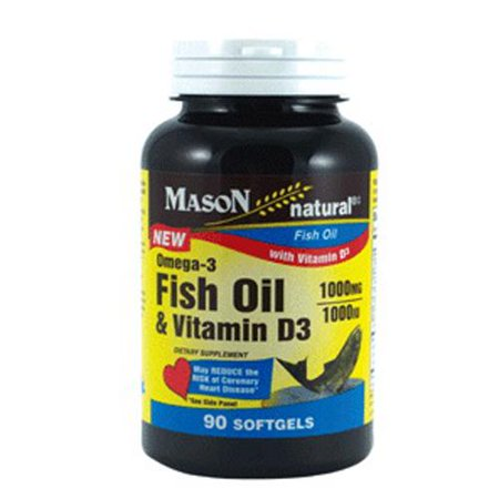 Mason natural fish oil 1000 mg omega 3 and vitamin d3 1000 for Fish oil vitamin d3