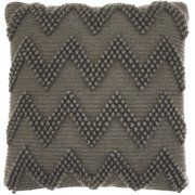 "Nourison Life Styles Textured Light Grey Decorative Throw Pillow , 20"" x 20"""