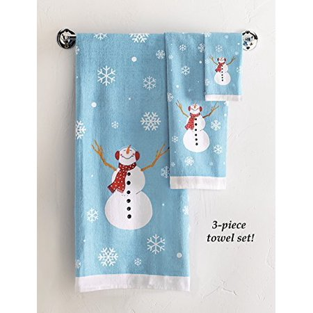 frosty snowman bathroom towels set of 3 by collections etc walmart