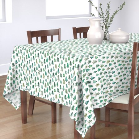 Image of Tablecloth Christmas Tree Christmas Tree Fir Tree Evergreen Forest Cotton Sateen