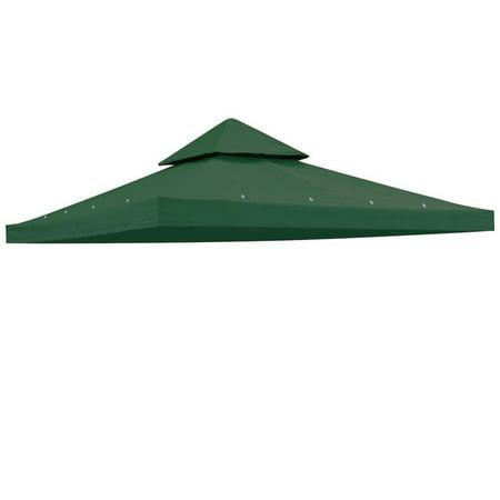 Heavy Duty Green Poly Fabric 10x10 Square Feet Garden Canopy Gazebo Replacement