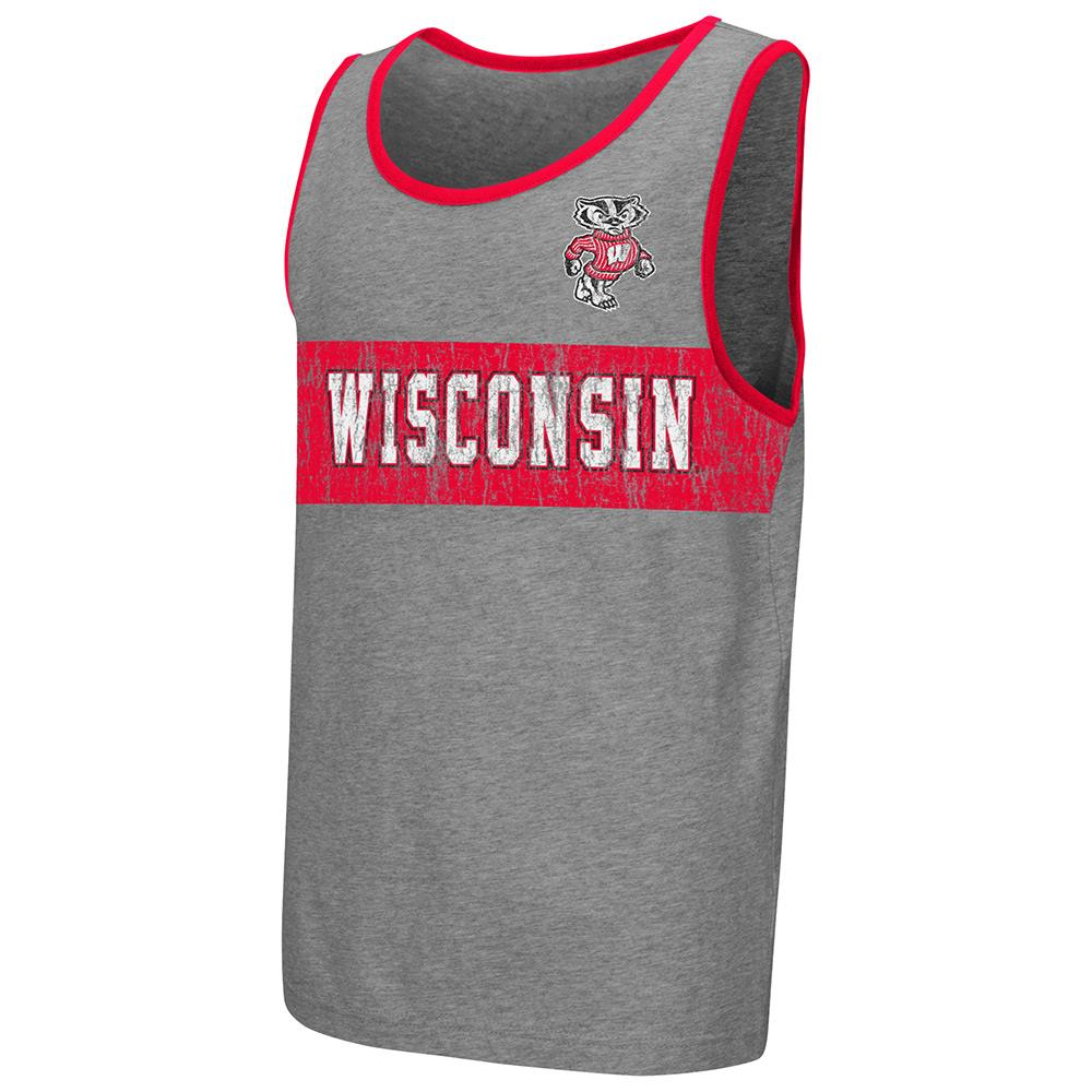 Youth NCAA Wisconsin Badgers Tank Top (Heather Grey)