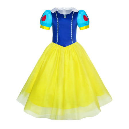 Girls Dress Snow White Princess Cartoon Mermaid Party Costume Ball 3 - Snow Coming Dresses