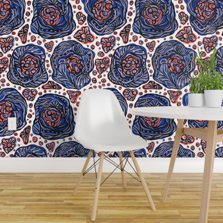 Peel and Stick Removable Wallpaper Bohemian Boho Flower Power Stylish