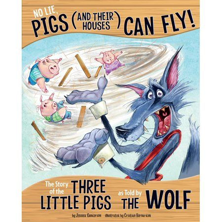 Other Side of the Story: No Lie, Pigs (and Their Houses) Can Fly!: The Story of the Three Little Pigs as Told by the Wolf (Paperback) Sad Little Pig