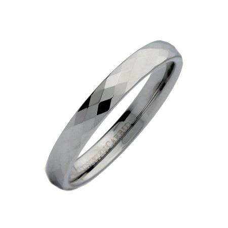 4MM Honeycomb Ring With Diamond Shaped Pattern Tungsten Carbide Wedding Band
