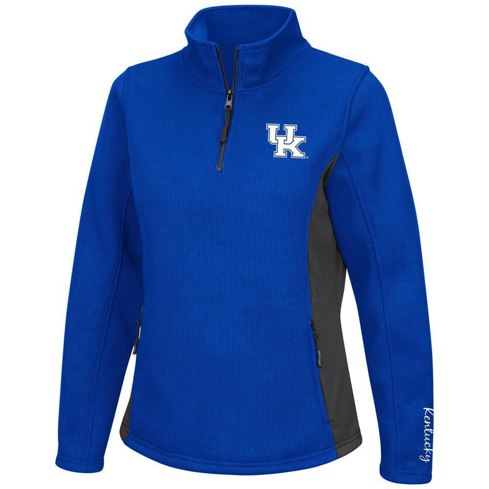 Ladies High Bar Kentucky Wildcats UK Quarter Zip Jacket by Colosseum