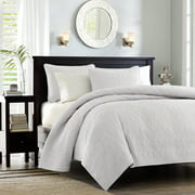 Home Essence Vancouver Super Soft Reversible Coverlet Set, Full/Queen, White