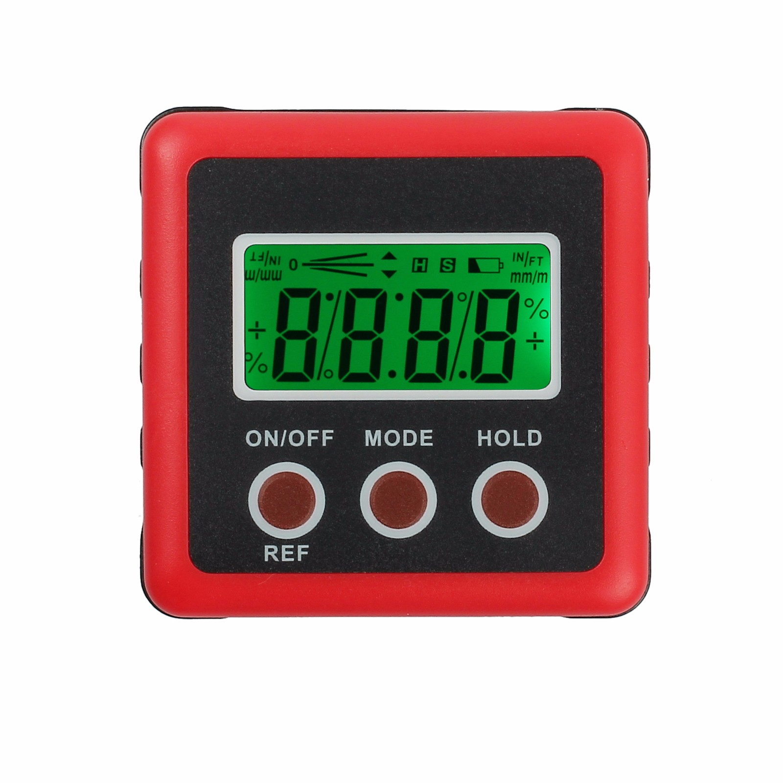 ESYNIC LCD Digital Angle Gauge Protractor Inclinometer Bevel Box ±180° Magnetic Base