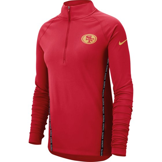 The awesome graphics on this jacket perfectly accentuate your loyalty to  the San Francisco 49ers. San Francisco 49ers Nike Women s Core Half-Zip  Pullover ... 788c3f6c34