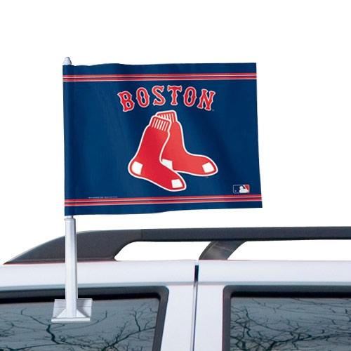 WinCraft Boston Red Sox 11'' x 13'' Two-Sided Car Flag - Navy Blue - No Size