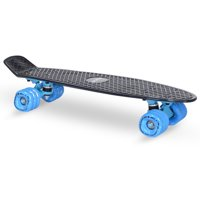 KaZAM Skateboard with Shark Wheel, Black/Blue