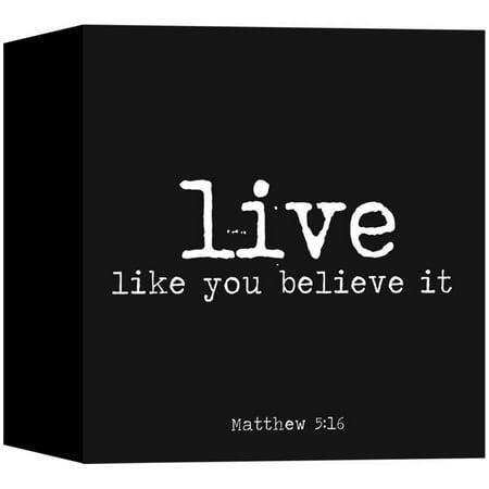 Living 31 Live Black  12X12 Wall Art