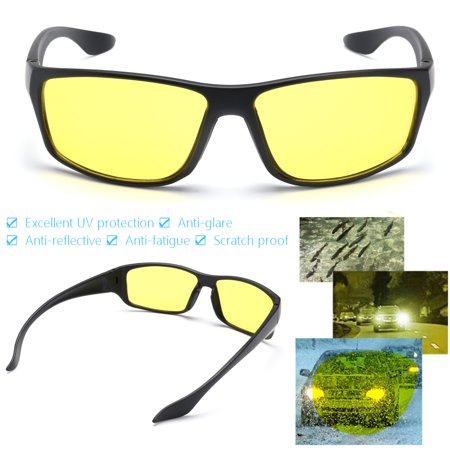 Asewin HD Night Vision Glasses for Driving - Premium Polarized Yellow Lens Suitable for Men and Women - Vision Lens