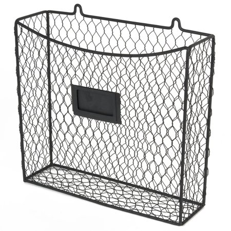 WALL35 Country Style Chicken Wire Basket Kitchen Utensil Organizer ...