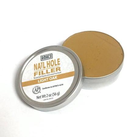 Amaco Nail Hole and Corner Filler for Wood, 2 Oz Tin, Light Oak