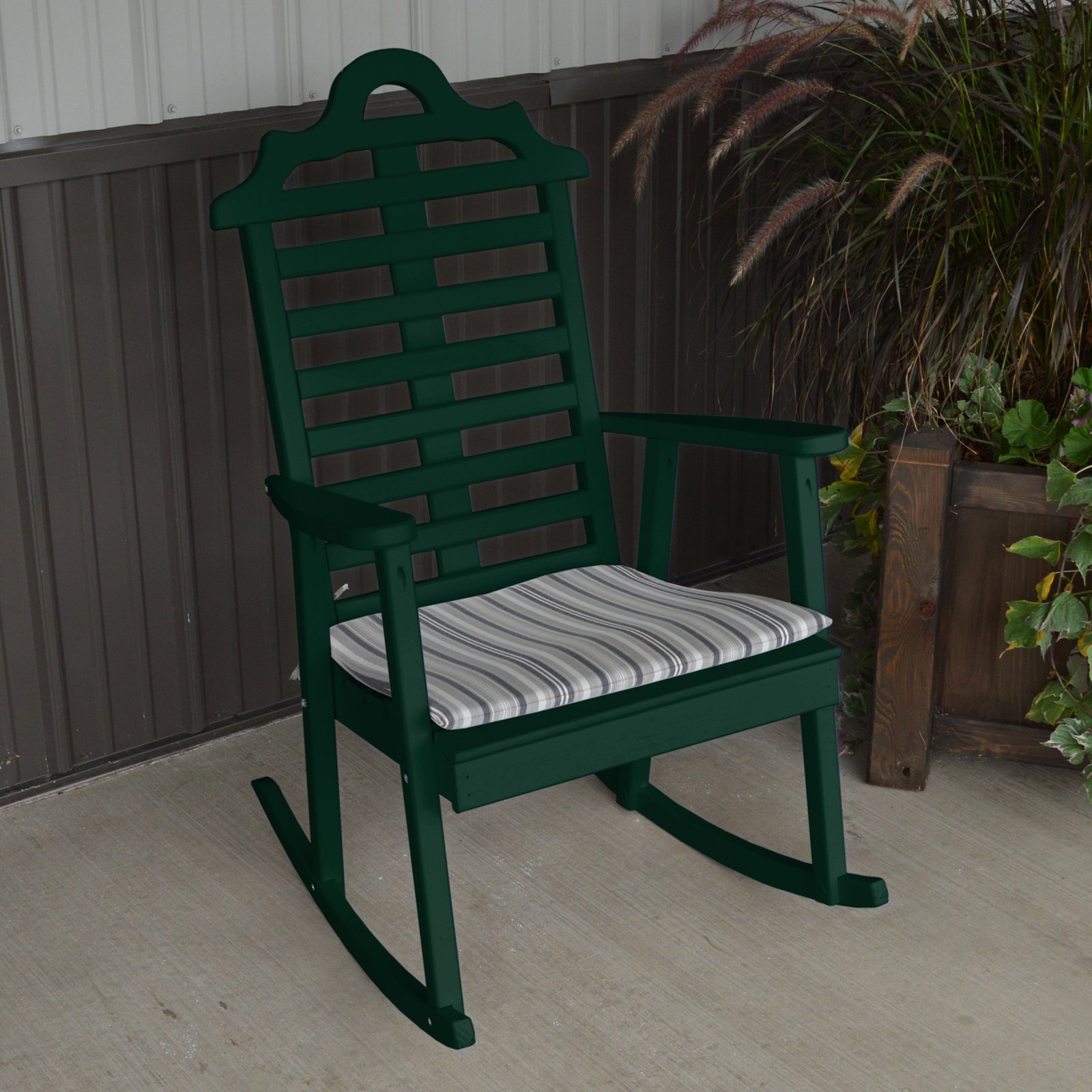 A & L Furniture Yellow Pine Marlboro Porch Rocker