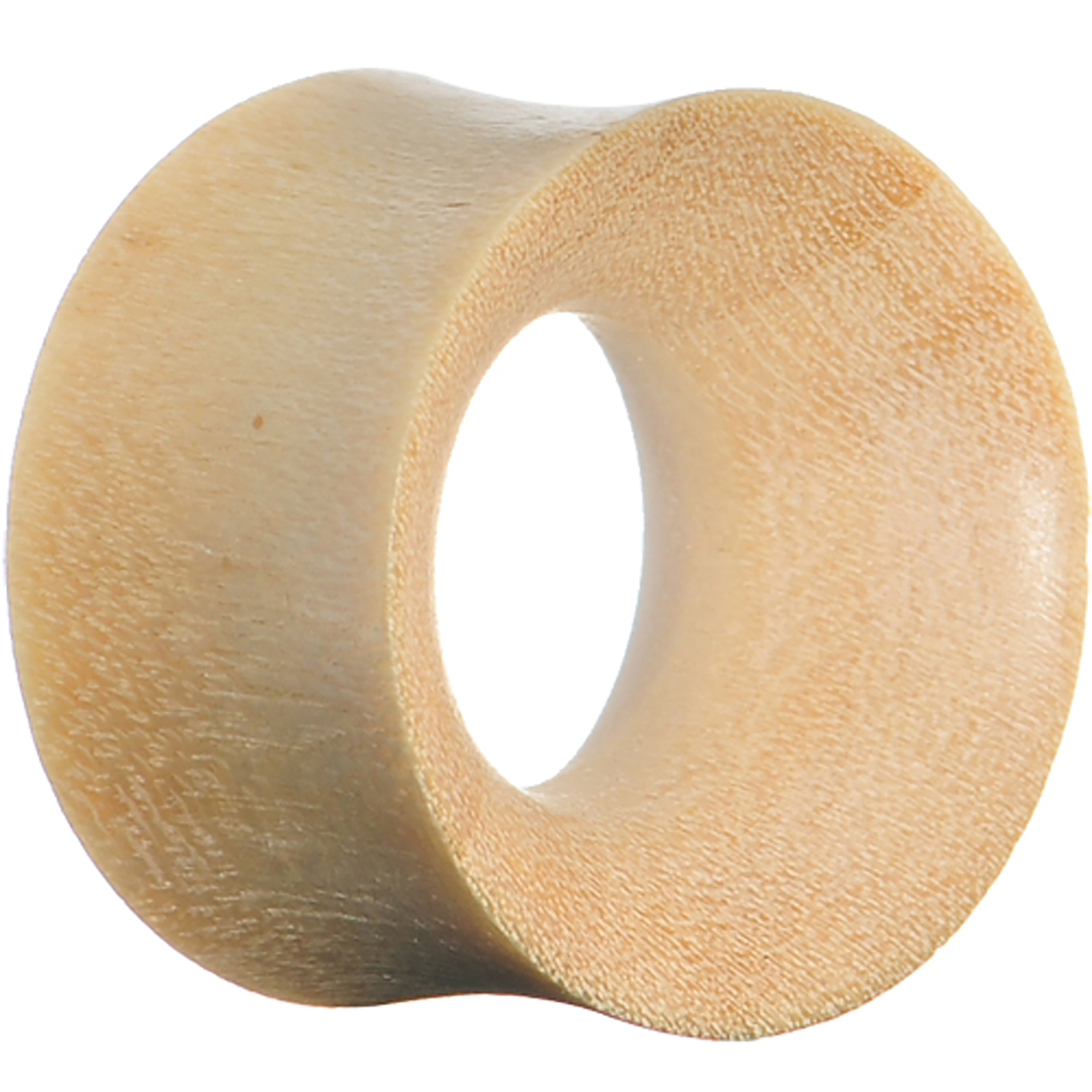 "3/4"" Gauge White Crocodile Wood Ear Tunnel (1 Piece)"