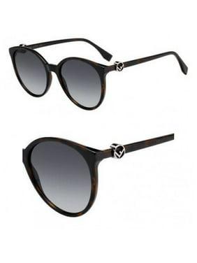 7402bf9cb44 Product Image Fendi FF0288S 0086 Dark Havana Round Sunglasses