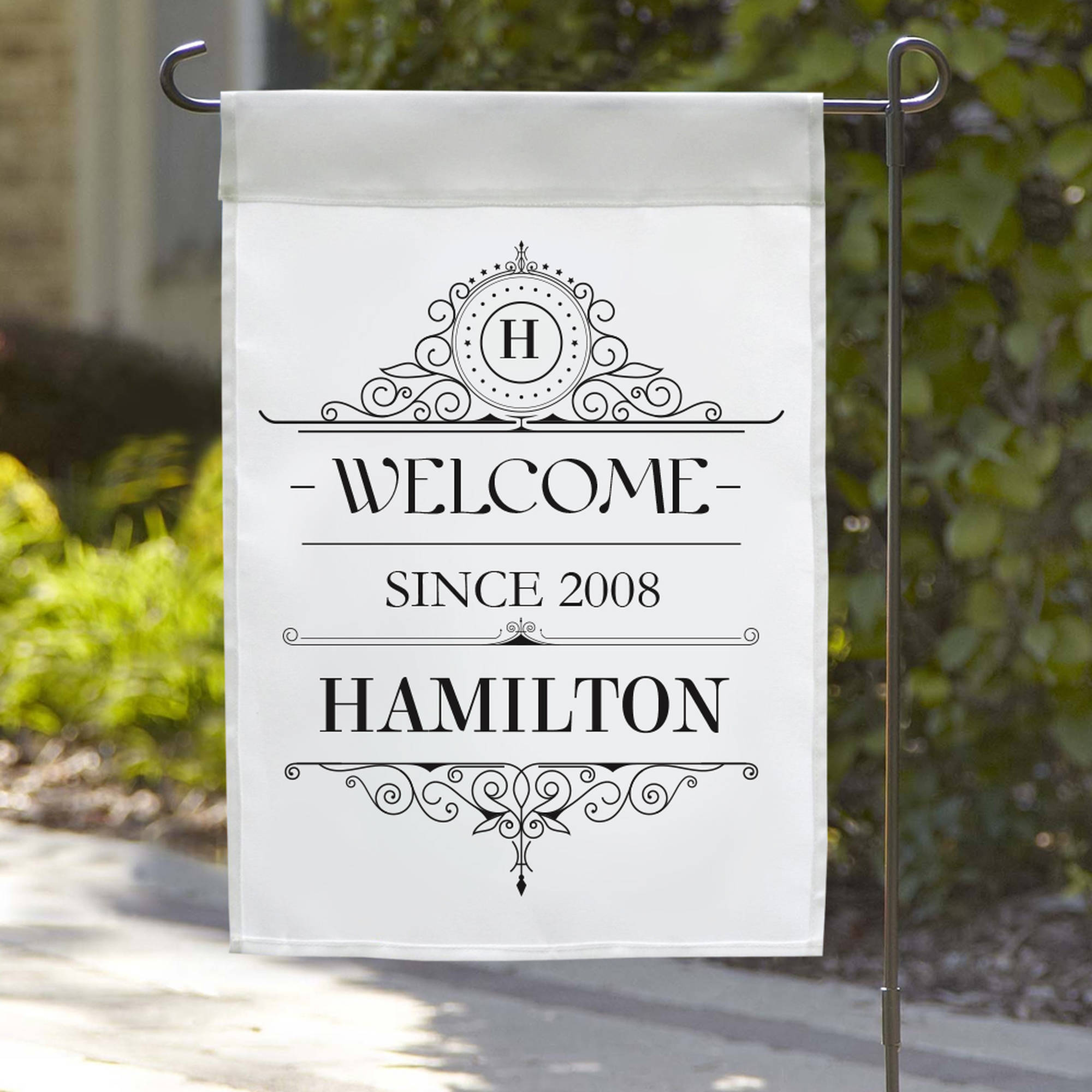 """Personalized Welcome Since Garden Flag, 18"""" x 12"""""""