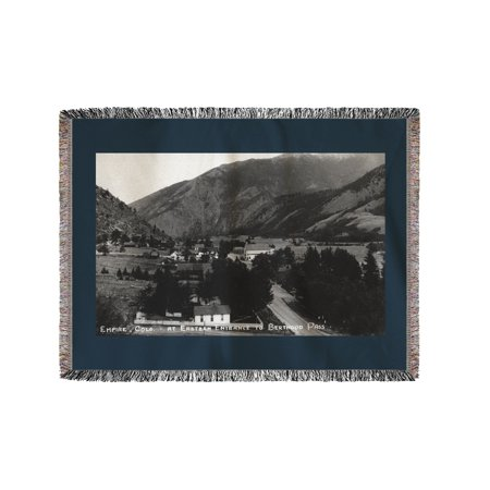 Empire, Colorado - View of the Town at the Eastern Entrance to Berthoud Pass (60x80 Woven Chenille Yarn -