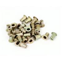 30pcs M3x9mm Serrated Body Countersunk Head Threaded Rivnuts Rivet Nuts Nutserts