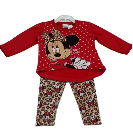 cbf59ba4b Disney - Baby Girls Red Minnie Mouse Leopard Spot Print 2 Pc Pant ...