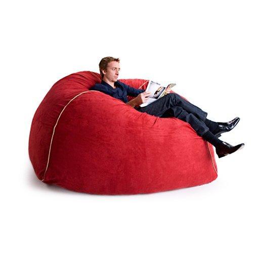 Jaxx 5 ft. Medium Faux Suede Foam Club Chair Sofa