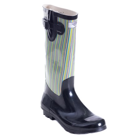 Women Rubber Rain Boots, Retro Black](Retro Boots)