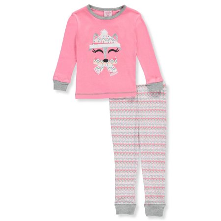 Mon Petit Little Girls Toddler  Wintry Dreams  2 Piece Pajamas  Sizes 2T   4T