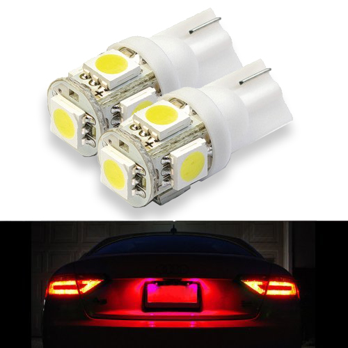 SwitchCarParts LED T10 5-SMD License Plate Light Bulbs Xenon HID Multiple Colors