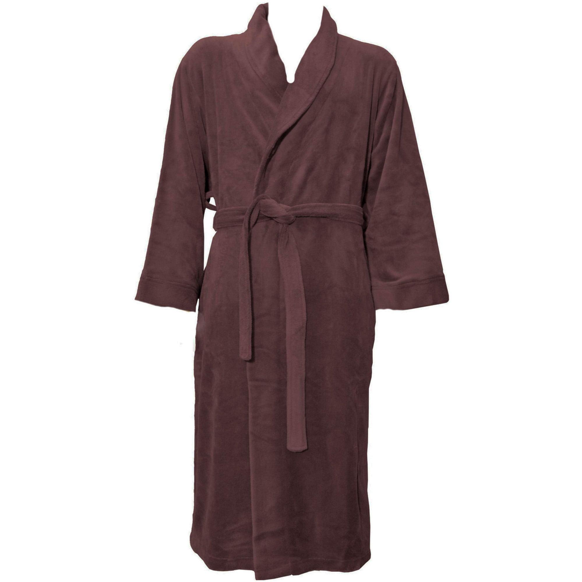 Unisex Plush Kimono Robe Hotel Spa Bathrobe with Tie Clos...