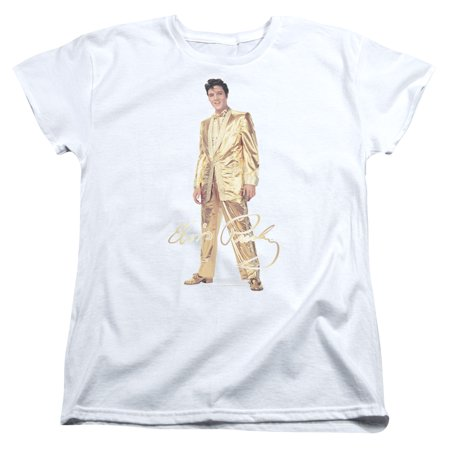 Gold Lame Elvis (Elvis Presley Gold Lame Suit Womens Short Sleeve)