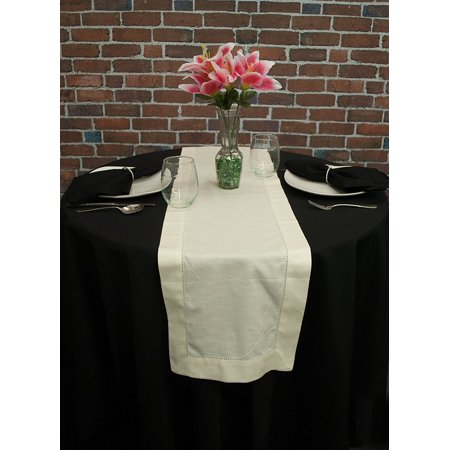 Ivory Table Runner (Ivory Hemstitch Table Runner)
